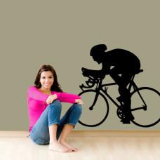 szablony ścienne rowerzysta