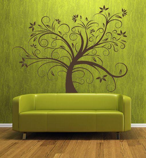 naklejki na ściany drzewa