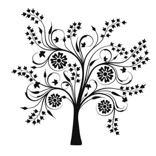 naklejki jednokolorowe drzewa