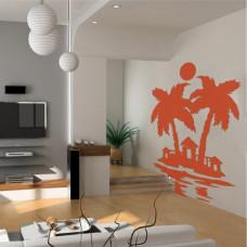 szablon do malowania palma