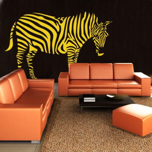dekoracje ścian zebra