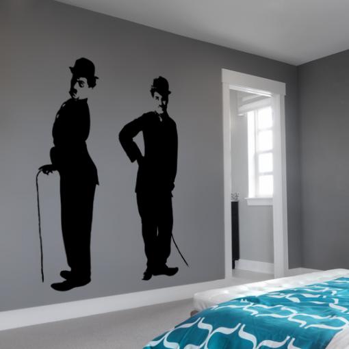 naklejka na ścianę mężczyzna w kapeluszu