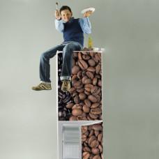 naklejki na lodówki kawa