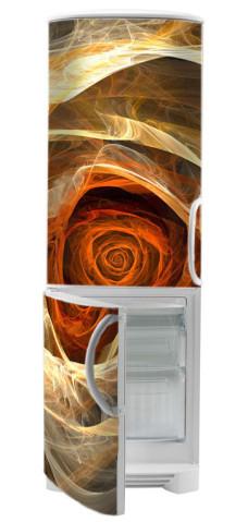naklejka na lodówkę z różą