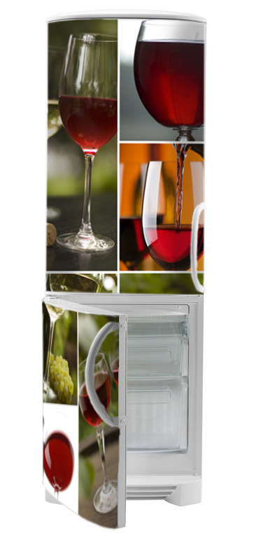 naklejki na lodówki wino