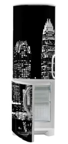 okleina na lodówkę panorama miasta
