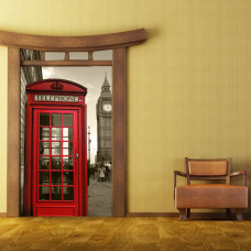 naklejka na szafę londyńska budka telefoniczna