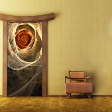 dekoracja drzwi kwiaty