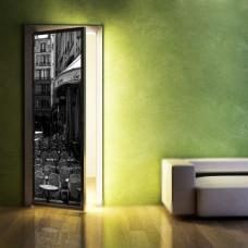 czarno-białe naklejki na drzwi