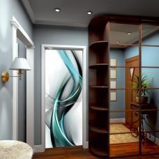 laminaty na drzwi abstrakcje