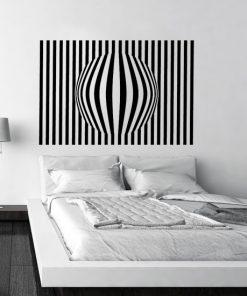 szablon do malowania ścian wzór 3D