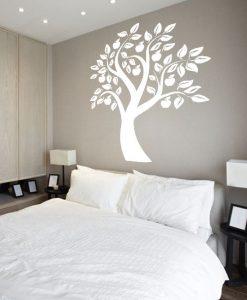 szablon do malowania ścian drzewo i jabłka