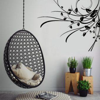 szablon do malowania ścianą rośllinka