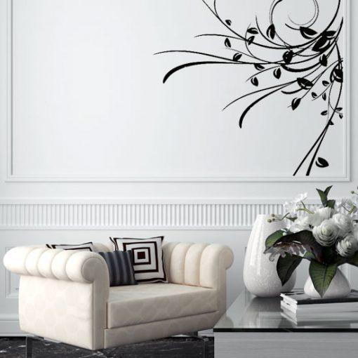 szablon do malowania ścian roślina