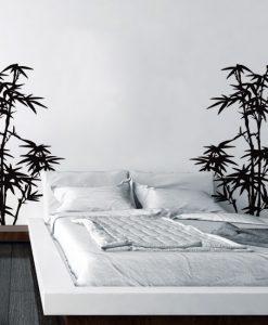 naklejka ścienna z bambusami