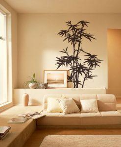 naklejka ścienna z bambusem