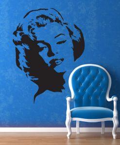 wzory na ścianę Marylin Monroe