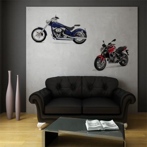 dekoracje ścian motory