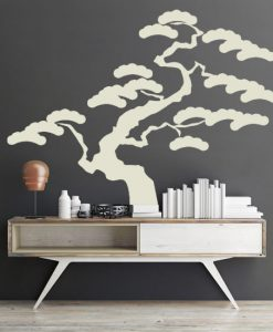 szablon ścienny bonsai