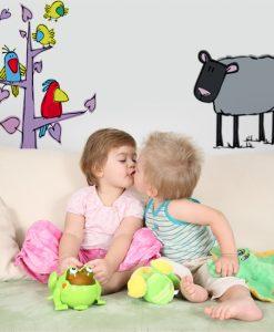 naklejki dla dzieci owieczka