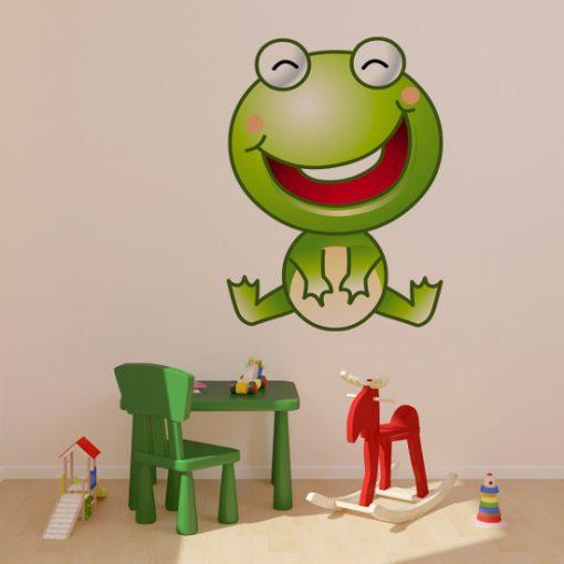 naklejka z żabą dla dziecka