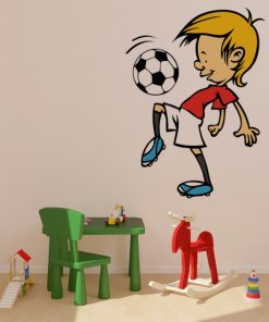 naklejka piłkarz