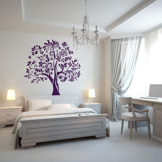 szablon na ścianę z motywem drzewa