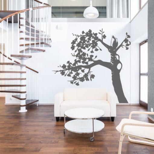 szablon ścienny drzewko