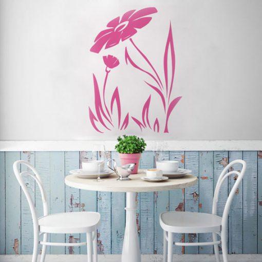 szablon do malowania ścian stokrotka