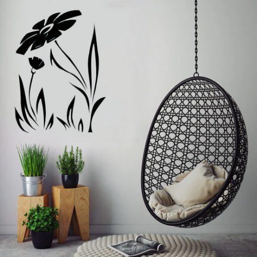 szablon do malowania ścian kwiaty