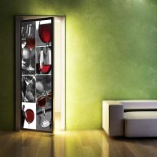 dekoracje drzwi wino