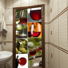 dekoracja drzwi wino
