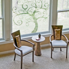 naklejki na okna drzewo