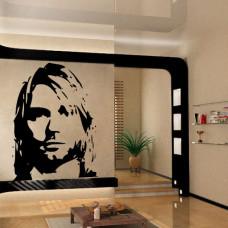 naklejka do salonu Kurt Cobain
