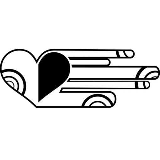 wzory na ściany serce
