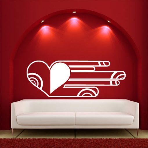 naklejka do salonu serce