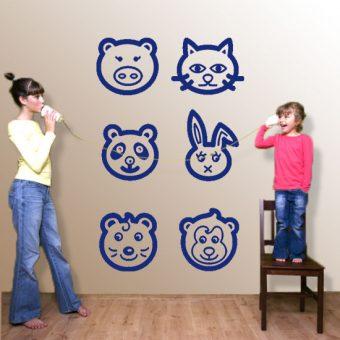 naklejka ze zwierzakami do pokoju dziecka
