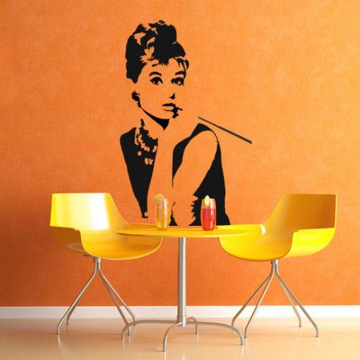 naklejka do salonu Audrey Hepburn