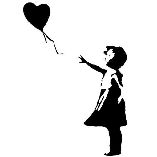 naklejka mural Banksy