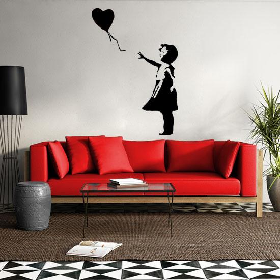 Naklejki Na ściany Dziewczynka Z Balonikiem