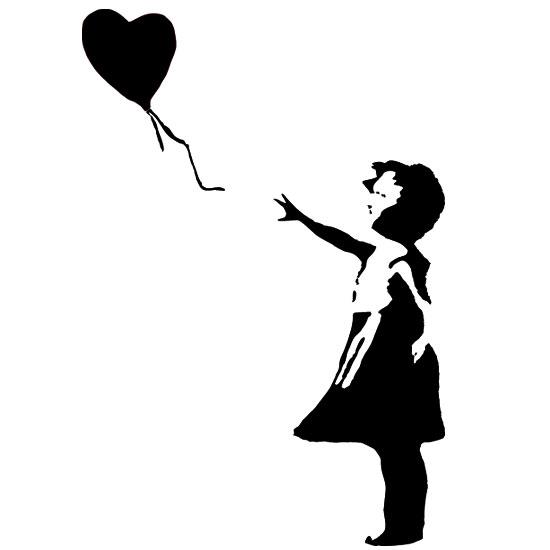 Tatuaz Scienny Z Mala Dziewczynka I Balonikiem Do Pokoju Dziecka