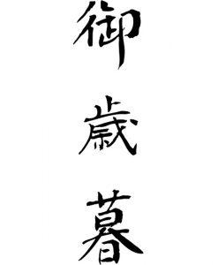 Dekoracja Do Salonu Z Chińskimi Literami