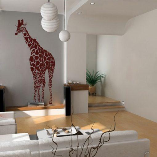 naklejka do salonu żyrafa