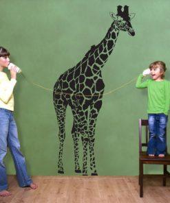 folia na ściany żyrafa