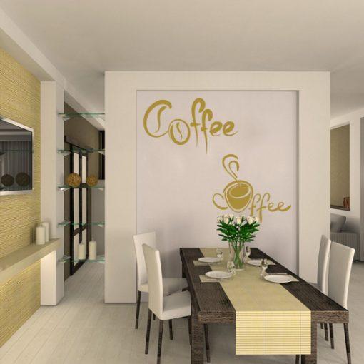 naklejki do jadalni kawa