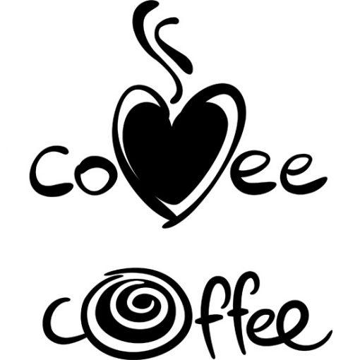 tatuaże ścienne kawa