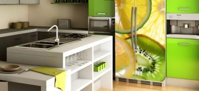 naklejka na lodówkę z owocami