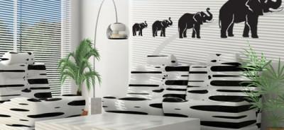 naklejka słonie