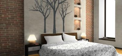 Naklejka Trzy Drzewa - naklejki na ścianę w sypialni