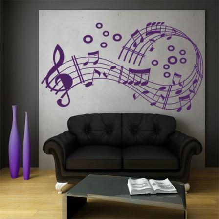 naklejki nuty i muzyka